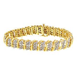 14k Yellow Gold Ladies Diamond Bracelet 6.5cts