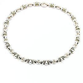 Lagos Caviar Vintage 18K Yellow Gold and Sterling Silver Necklace