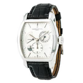 Vacheron Constantin Malte Dual Time 47400 18K White Gold 36mm Automatic Mens Watch