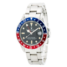 Rolex Gmt Master 16750 Stainless Steel with Matte Dial Automatic Vintage 40mm Mens Watch