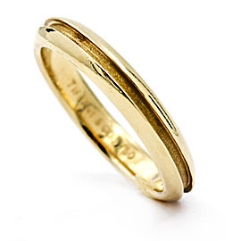 Tiffany & Co. 18K Yellow Gold Groove Wedding Band Ring Size 6.5