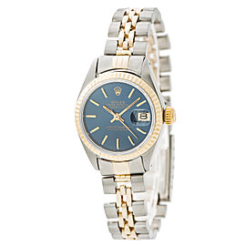Rolex Datejust 6917 Two Tone Automatic Blue Dial 26mm Womens Watch