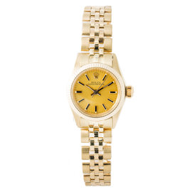 Rolex President Oyster Perpetual 6719 Automatic 18K Yellow Gold Vintage 25mm Womens Watch