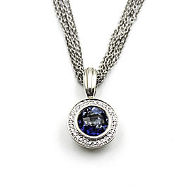 Charles Krypell 14K Yellow Gold & 925 Sterling Silver Blue Quartz & Diamond Necklace