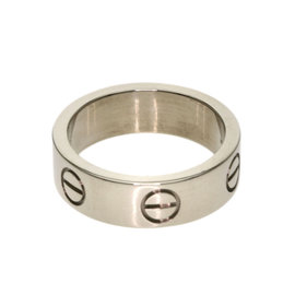 Cartier 18K White Gold Love Ring Size 5.25