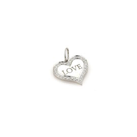 Tiffany & Co. PT950 Platinum Diamond LOVE Heart Pendant