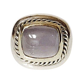 David Yurman Sterling Silver and 14K Yellow Gold with Chalcedony Albion Ring Size 6.5