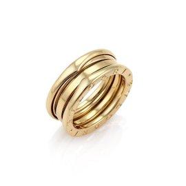 Bulgari B Zero1 18K Yellow Gold Band Ring Size 6.5