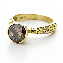 Alex Sepkus Martini Ring with 1.74ct Cognac Diamond in 18k Yellow Gold, Size 6.5