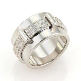 Asprey Keria 18K White Gold with 0.59ct Diamond Spinning Band Ring Size 8.25