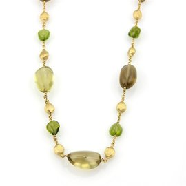 Marco Bicego Confetti 18K Yellow Gold with Citrine & Peridot Necklace