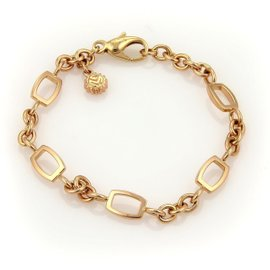 Franck Muller Talisman 18K Rose Gold Geometric Chain Link Bracelet