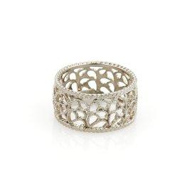 Buccellati Filidoro 925 Sterling Silver Mesh Band Ring Size 5