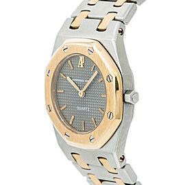Audemars Piguet Royal Oak Women's Quartz Watch Two Tone 18k Yellow Gold 26MM