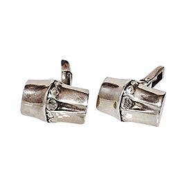 John Hardy Sterling Silver Classic Bamboo Cufflinks