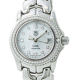 Tag Heuer Link WT141J Womens Quartz Watch Mother Of Pearl Dial Stainless 27mm