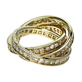 Cartier Trinity 18K Yellow Gold with Diamond Ring Size 6.25
