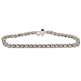 10k White Gold Diamond Tennis Bracelet