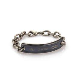 Tiffany & Co. 1837 Titanium & 925 Sterling Silver ID Chain Bracelet