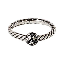 David Yurman Sterling Silver with Diamond Ring Size 7