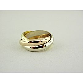 Cartier 750 18k Rolling Ring 3 Bands Tri-Color SZ EU 51 US 5.75