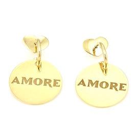 Pasquale Bruni Amore 18K Yellow Gold Circular Dangle Drop earrings