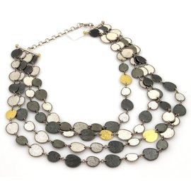 Gurhan 24K Yellow Gold and 925 Sterling Silver Multi-Strand Necklace