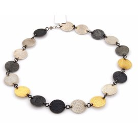 Gurhan 24K Yellow Gold and 925 Sterling Silver Disc Necklace
