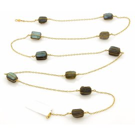 Gurhan 24K Yellow Gold with Labradorite Necklace
