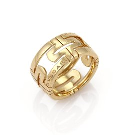 Bulgari Parentesi 18K Yellow Gold Band Ring Size 6.5