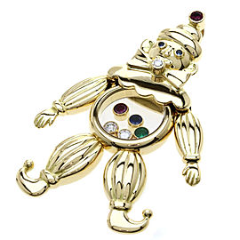 Chopard 18K Yellow Gold Ruby, Emerald, Sapphire & Diamond Clown Pendant