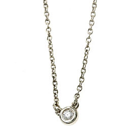 Tiffany & Co. 925 Sterling Silver & Diamond By The Yard Necklace