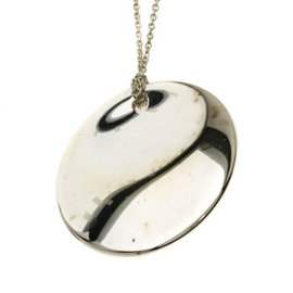 Tiffany & Co. 925 Sterling Silver Round Pendant Necklace
