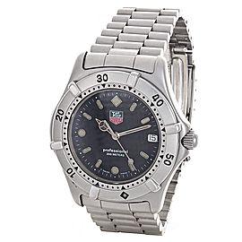 Tag Heuer Men's Black Dial Stainless Steel Watch WE 1110-2