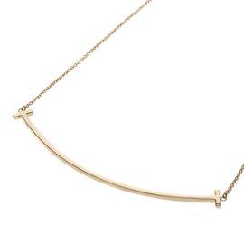 Tiffany & Co. 18K Rose Gold T Smile Necklace