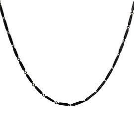 David Yurman Black Titanium & 925 Sterling Silver Royal Cord Chain Necklace