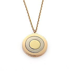 Cartier 18K Yellow, Rose and White Gold Triple Movable Disc Pendant Necklace