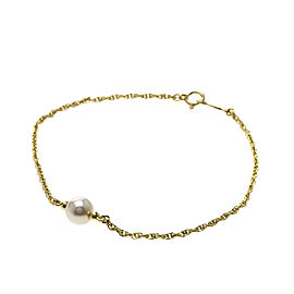 Mikimoto 18K Yellow Gold with Cultured Pearl Bracelet