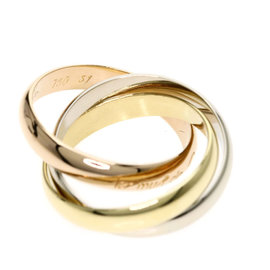 Cartier Trinity Ring 18K Yellow, White & Rose Gold Size 5.5