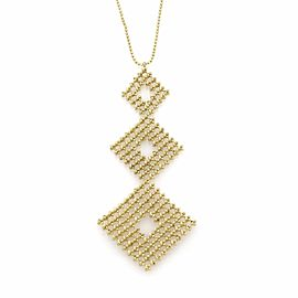 Tiffany & Co. Fringe 18K Yellow Gold Diamond Shape Pendant Necklace