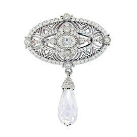Judith Ripka Sterling Silver Crystal Cubic Zirconia Brooch