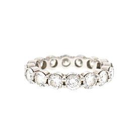 18k White Gold Diamond Ladies Eternity Band Ring 3.75 Cts