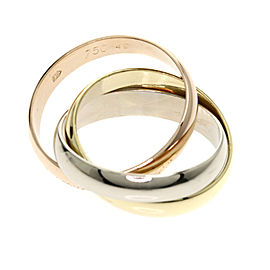 Cartier Trinity Ring 18K Yellow, White and Rose Gold Size 4.75