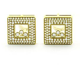 Chopard 18K Yellow Gold Diamond Earrings