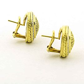 David Yurman Albion Diamond Earrings in Yellow Gold