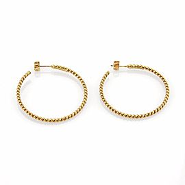 Tiffany & Co. 18K Yellow Gold Wire Cable Large Hoop Earrings