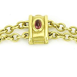 Seidengang Classic Intaglio Necklace in Yellow Gold with Tourmaline and Emerald