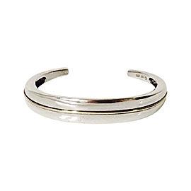 Movado 18k Yellow Gold Sterling Silver Cuff Bracelet