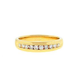 14k Yellow Gold Diamond Wedding Band .25 Cts