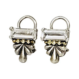 Lagos Caviar 18K Yellow Gold Sterling Silver Topaz Earrings
